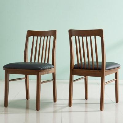 잉글랜더 트로이 고무나무 원목의자 2EA