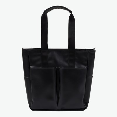 LEATHER 5POCKET CROSS&TOTE (BLACK)_(401030426)