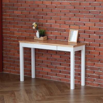 [잉카] 베이지 소나무원목 서랍형 콘솔테이블 1200 화이트