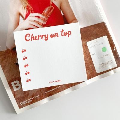 MEMO PAD - Cherry List