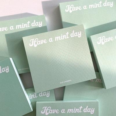 MEMO PAD - Mint Day