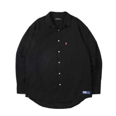157 솔리드 셔츠 (블랙)_(1172480)