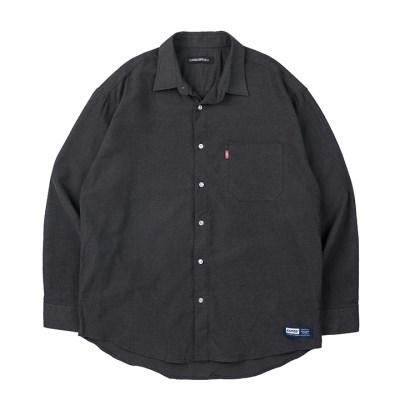 157 솔리드 셔츠 (챠콜)_(1172479)