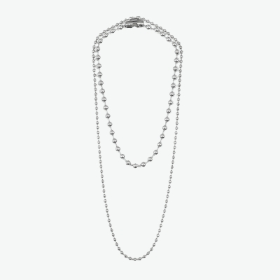DOUBLE NECKLACE BALL (SILVER)_(401030320)