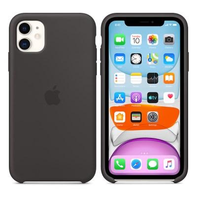 iPhone 11 실리콘 케이스 - 블랙 MWVU2FE/A