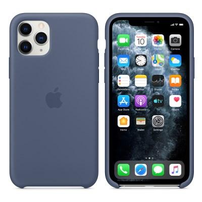 iPhone 11 Pro 실리콘 케이스 - 알래스칸 블루 MWYR2FE/A