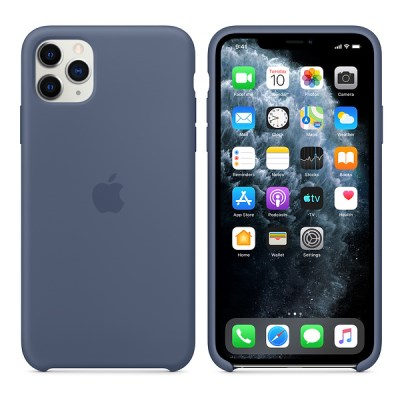 iPhone 11 Pro Max 실리콘 케이스 - 알래스칸 블루 MX032FE