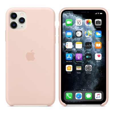 iPhone 11 Pro Max 실리콘 케이스 - 핑크샌드 MWYY2FE