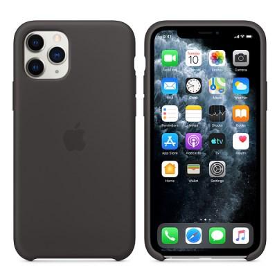 iPhone 11 Pro 실리콘 케이스 - 블랙 MWYN2FE