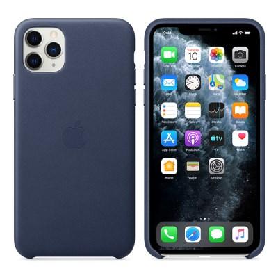iPhone 11 Pro 가죽 케이스 - 미드나이트 블루 MWYG2FE