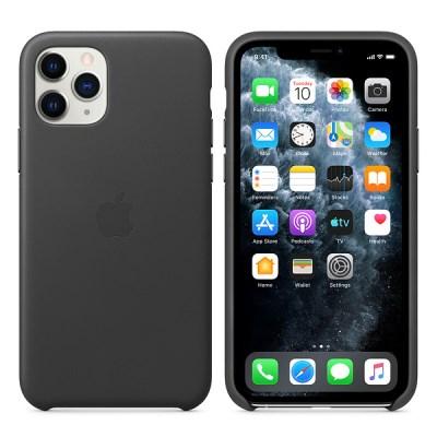 iPhone 11 Pro 가죽 케이스 - 블랙 MWYE2FE