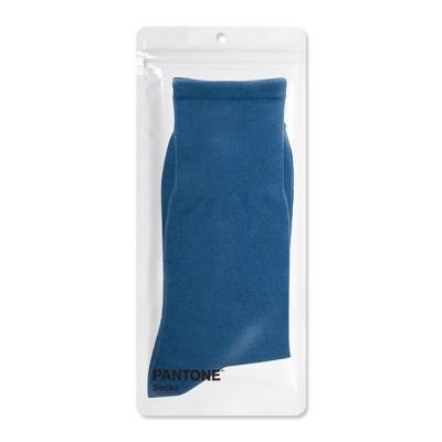 팬톤삭스 블루 Blue 단색 컬러 장목 양말