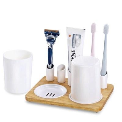 칫솔 치약 면도기 신혼 커플컵 욕실 오거나이저 D818_(1105175)