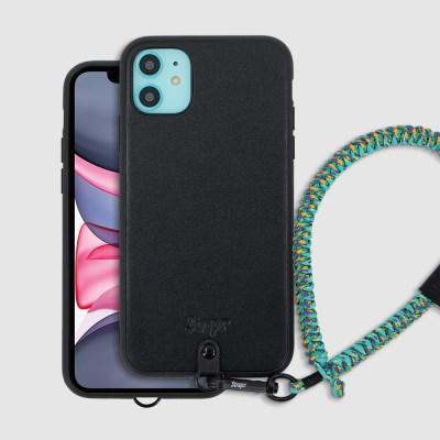 아이폰 11 가죽 슬림 스트랩 케이스
