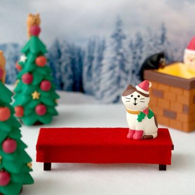 데꼴 크리스마스 빨간평상 피규어