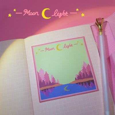 문 라이트2 메모지 (pink.ver)