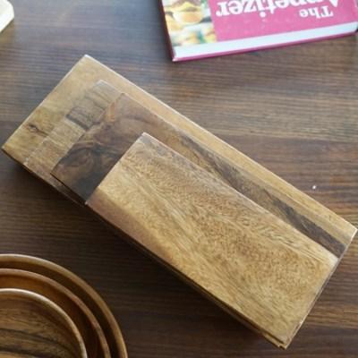 따뜻한우드 아카시아 초밥도마 4가지 사이즈_(24043)
