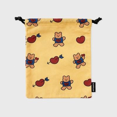 bear heart-creamyellow(스트링 파우치)_(1352492)