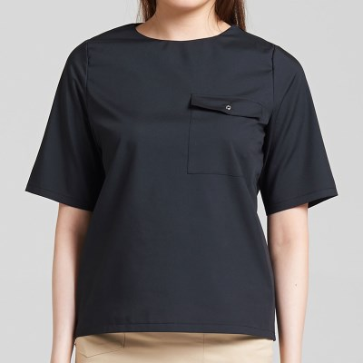 EYELET BLOUSE (BLACK)