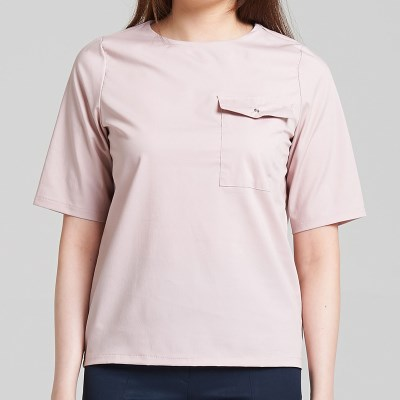 EYELET BLOUSE (LIGHT PINK)