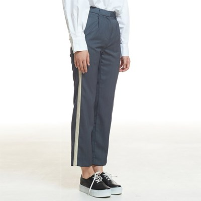 STRIPE SLACKS (GREY)