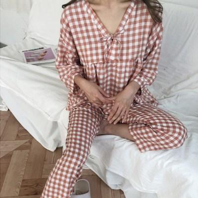 소녀감성 노카라 잠옷 파자마 세트