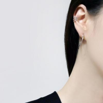 (92.5 silver) triple line earcuff