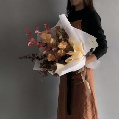 [프리저브드] 단풍 유칼립투스 꽃다발
