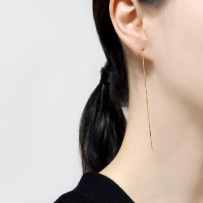 (92.5 silver) velvet gold earring