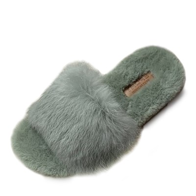 kami et muse Rich fur trandy slippers_KM19w107