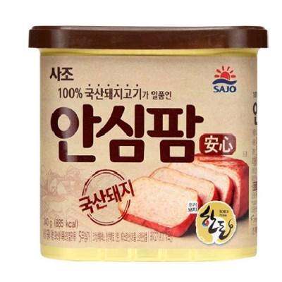 사조 100%국내산돼지고기 안심팜340gx8캔