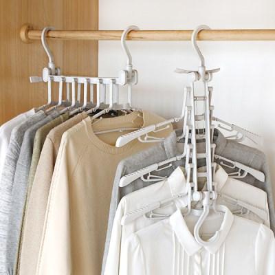 맑은생활 고백옷걸이 6단 4개 1세트 특가