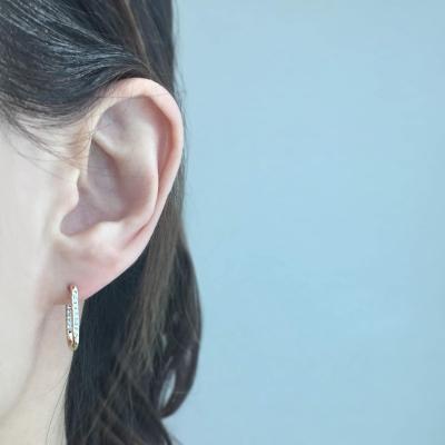 Silver 925 타이니베이비 큐빅 Uring 귀걸이