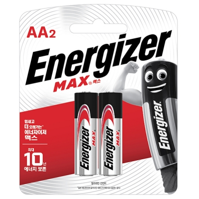 에너자이저 알카라인 맥스 건전지 AA AAA 2입 (2알) 카드형