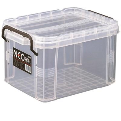 플라스틱 투명상자 리빙박스 옷보관함 네오박스80