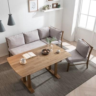 잉글랜더 베로나 리빙다이닝 4인용 고무나무 원목 식탁