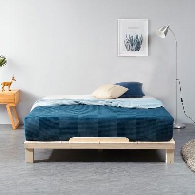 [잉카] 평상마루 소나무원목 저상형 침대프레임 퀸사이즈