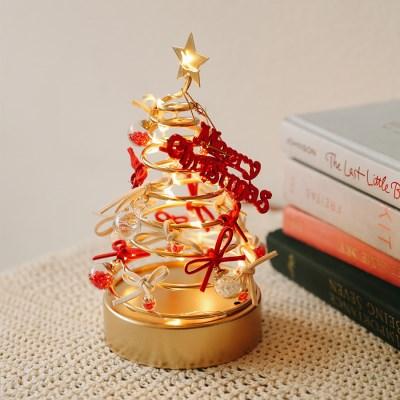 네메시스 미니 골드철제 프레임 LED무드등 미니트리 크리스마스 장식