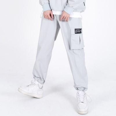 (UNISEX)Wearable Stopper Cargo Pants(GREY)