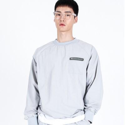 (UNISEX)Wearable Stopper Raglan Logo T(GREY)