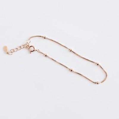 (92.5 silver) ball charms bracelet