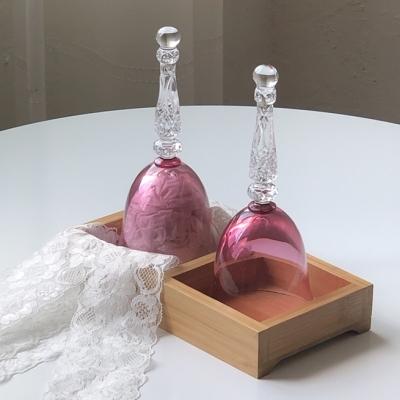 핑크 크리스탈 원샷 글라스잔