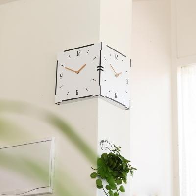 코너의 재발견~!! 타임데코 화이트 코너벽시계