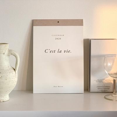 2020 Calendar C'est la vie PARIS