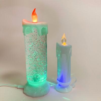 [맙소사잡화점] LED 아쿠아 글리터 회오리 촛불