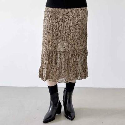 [skirt] 링클 패턴 롱 스커트_(1378266)