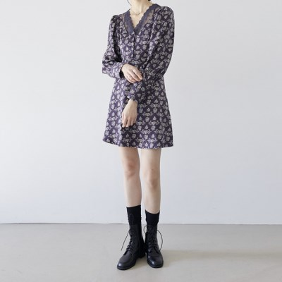 [dress] 실키 레이스 원피스_(1377236)