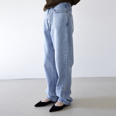 [pants] 코튼 데님 슬랙스_(1377232)