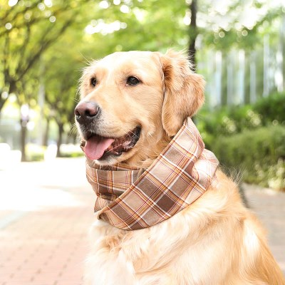 BROWN CHECK NECK WARMER