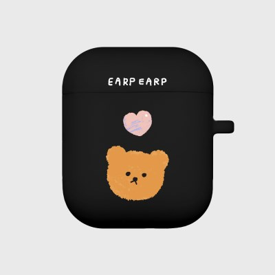 Dot love and bear-black(Air pods)_(1369774)